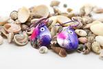 Purple Spinner Lure Earrings