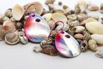 Silver/Pink Spinner Earrings