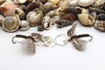 Brown Bodied Fly Fishing Earrings