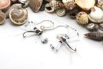 Silver Fly Fishing Earrings