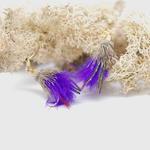 Purple Feather Fly Earrings