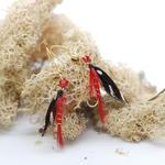 Black/Red Fly Fishing Earrings