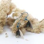 Steel Blue Fly Fishing Earrings