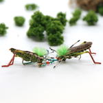 Green Grasshopper Fly Fishing Earrings