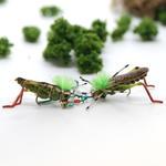 Green Grasshopper Fly Fishing Earrings