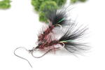 Black  Feather Fly Fishing Earrings