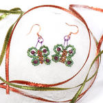 Green/Brown Butterfly Earrings