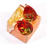 Orange Spinner Earrings