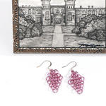 Pink Chain-Mail Earrings