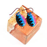 Squiggly Neon Lure Earrings