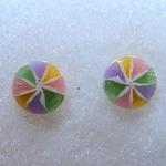 Candy Pinwheel Earrings