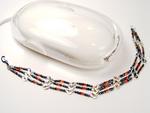 Diode Bracelet w/Steel Blue Beads