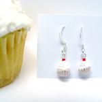 Cup Cake Earrings w/pink wrapper
