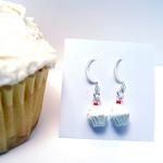 Cup Cake Earrings w/blue wrapper
