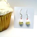 Cup Cake Earrings w/yellow wrapper