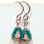 Diode Earrings w/Teal Beads