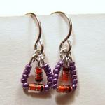 Diode Earrings w/Purple Beads