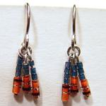 Diode Earrings w/Grey Blue Beads