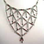 Black Germainum Diode Harlequin Necklace