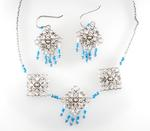 Cyber-Victorian Necklace and Earring Set