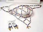 Harlequin Resistor Necklace and Earrings