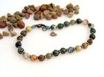 Natural Mixed Jasper and Agate Bracelet