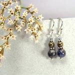 Iron Pyrite Earrings w/Sterling Silver Ear Wires