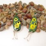 Froggy Daredevle Fishing Lure Earrings