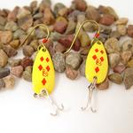 Diamond Daredevle Fishing Lure Earrings