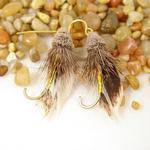 Feather Fishing Fly Earrings