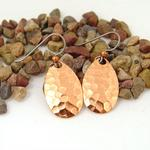 Copper Spinner Fishing Lure Earrings