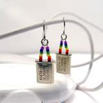 Clock Crystal Pride Earrings
