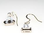 Geek Girl Clock Crystal Earrings