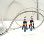 Resistor Earrings w/Pride Beads
