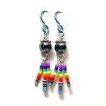 Earrings w/Resistors and Pride Beads