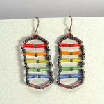 Pride Flag Bugle Earrings w/Titanium Ear Wires