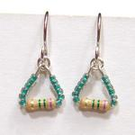 Resistors Earrings w/Green Beads