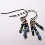 AzTech Blue Resistors Earrings
