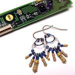 Midnight Blue Resistor Earrings