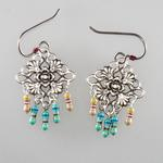 Cyber-Victorian Antiqued Silver Earrings