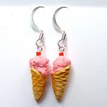 Cherry Chip Ice Cream Cone Earrings