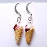 Neapolitan Ice Cream Cone Earrings