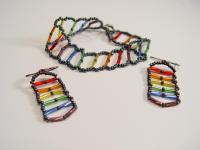 Pride Ladder Earrings and Bracelet
